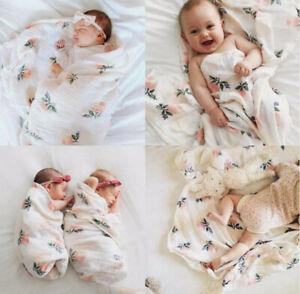 Muslin Swaddle Extra Large 120x120 Newborn Baby Gift Bamboo/Organic Cotton Wrap