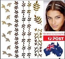 Hair & Body Tattoo Instant Flash Gold Metallic Glitter Head Wear Jewellery