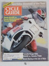 CYCLE GUIDE Rare Motorcycle MAGAZINE Oct 1985 SUZUKI Sportbike Shootout Cover