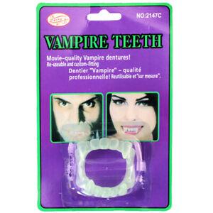 1pcs Vampire Fake Teeth Dentures Halloween Party Supplies Glow In The DaA!