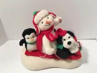 Jingle Pals Hallmark Sleigh Ride Animated Sled Snowman Penguin 2007 Video Below