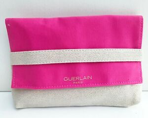 GUERLAIN Pink & Beige Makeup Cosmetic Bag / Pouch / Case, Brand NEW!!