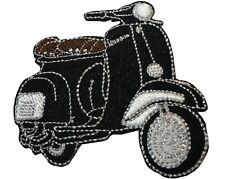 Black Scooter MOD Scooterist Iron/ Sew On Embroidered Cloth MODS Patch