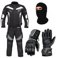 Motorbike 600d Cordura Textile Jacket Trousers Waterproof Matching Gloves