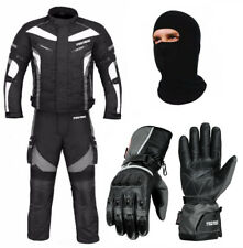 Motorbike 600d Cordura Textile Jacket Trousers Waterproof Matching Gloves