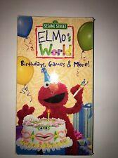 Rare VHS Video Tape Sesame Street Elmo'sWorld Birthdays Games & More TESTED