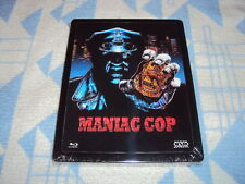 Maniac Cop Steelbook Uncut Lenticular Cover Blu-ray  NEU OVP