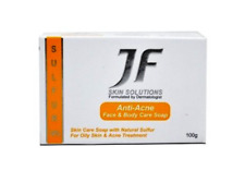 2 X JF Anti-Acne Face & Body Soap With 10% Sulfur 100g Free Shipping