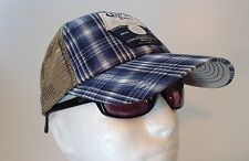 Corona Extra Plaid Trucker Adjustable Cap Hat with Mesh Back