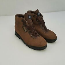 Womens 7.0 M Vasque Skywalk Brown Suede Leather Hiking Boots Made in Italy 7531