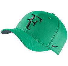 New NIKE AEROBILL ROGER FEDERER Hat Green ADJUSTABLE TENNIS Cap 868579-324