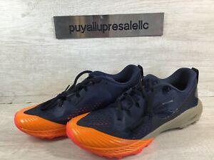 Men's Nike Air Zoom Terra Kiger 5 Trail Obsidian/Orange AQ2219-402 Size 9.5