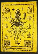 LARGE Buddhist PHRA PHROM. THE FOUR FACED BUDDHA PHA YANT 'WISHING'  Cloth.