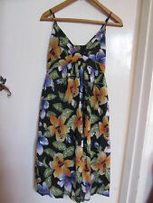 Multicoloured Floral Cotton Summer / Sundress Dress in Size 10
