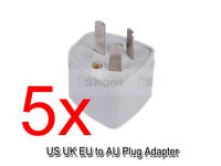 5 US UK United Kingdom EU-AU Australia NZ CN Power Plug Adapter Travel Converter