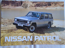 Nissan Patrol range brochure Mar 1989