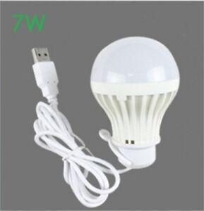 5V low-voltage light led energy-saving Home Camping emergency bulbs 7W USB bulb
