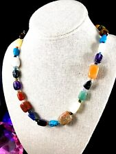 JAY KING DTR 925 STERLING SILVER MULTICOLOR LAPIS ONYX TURQUOISE STONE NECKLACE