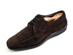 Tod's Derby Oxfords Brown Suede Men Size EU 41 US 8 $580