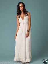 NWT Free People 8 Antique Wedding Gypsy Maxi Dress White Ivory  Cotton India