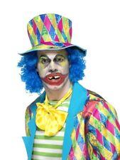 Crazy Payaso DIENTES TERROR circo Comedia Adulto Accesorio de disfraz