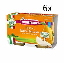 6 Stk PLASMON Omogeneizzato Pera Homogenisiert ab 4 Monaten Babynahrung 2x104g