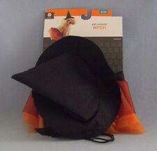 Dog Halloween Costume Witch Pet S/M 4 Pieces Skirt Hat New