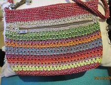 Multi coloured cocheted The Sak shulder bag