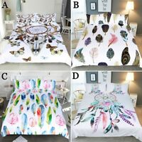 Multi-colors Feather Dreamcatcher Duvet Quilt Cover Set Single/Double/Queen/King