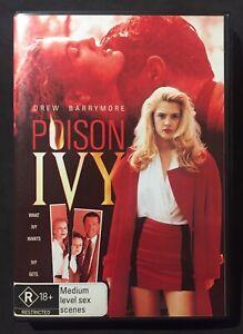POISON IVY (1992) DVD - REGION 4 - EROTIC TEEN THRILLER - DREW BARRYMORE - RARE