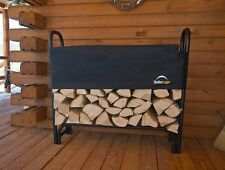 ShelterLogic 4' Covered Firewood Rack 90401 Steel Outdoor Holder Wood Bin