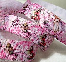 RUBAN GROS GRAIN  ** 25 mm ** LES FÉES FLEURS & NATURE - au mètre - couture