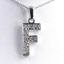 "14KT Genuine Diamond Initial ""F"" With 14KT Chain"