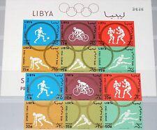 LIBYA LIBYEN 1964 160-65 B Block 8 B 263a Olympics Tokyo Soccer Boxing Sport MNH
