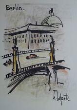 Georges LAPORTE (1926-2000) Technique mixte/papier Berlin P1800