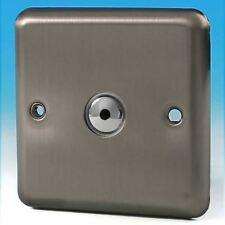V-Pro IR, 1 Gang, 100 Watt IJ Remote/Touch LED Dimmer Matt Chrome