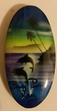 Florida Keys - Big Pine Key-Fridge Magnet-Wood Hand Painted - DOLPHINS BREACHING