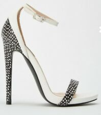 white black high heels sandals size 5 brand new boxed