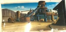 """0Cadillacs and Dinosaurs 10"""" x 18.5""""  Production Hand Painted Background 1993"""