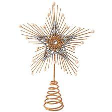 Stern Weihnachtsbaumspitze gold 31cm Metall