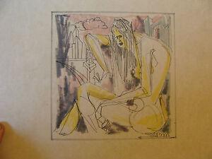 Original Signed MILES DAVID SEBOLD art: woman and city, titled SHE