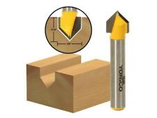 Yonico 14990q 90 Degree X 3/8-Inch Diameter V Groove Router Bit 1/4-Inch...