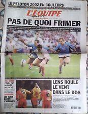 L'Equipe Journal 3/2/2002; Tournoi des Six Nations France-Italie/ Le peloton
