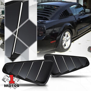 For 2005-2014 Ford Mustang {WINDOW LOUVERS} Black Scoop Cover Vent Quarter Side