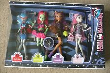 BNIB MONSTER HIGH GHOULS NIGHT OUT, CLAWDEEN VENUS ROCHELLE GHOULIA, 4 DOLL SET