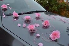 Voiture Mariage Décoration Ruban Noeuds Bal Limousine Décoration Rose Pétales