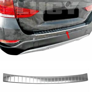 For BMW X1 F48 Chrome Rear Bumper Protector Guard 2015+ S.Steel