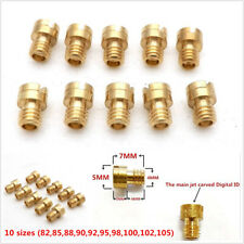 10x Round Head Main Jet 4mm 82-105 for GY6 50cc 139QMB Motorcycle Scooter 10Size