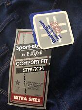 Mens 44x30 Jeans NEW Sport-abouts BIG YANK Stretch Comfort Denim Blue Pants