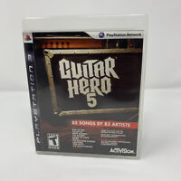 Guitar Hero 5 Sony PlayStation 3 PS3 Game Complete With Manual Tested